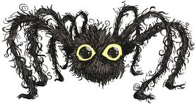 Cartoon Footsteps spider