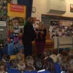 Stadhampton Primary School presented Footsteps Foundation with a cheque after their Christmas Concert