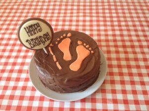 Peter Ryan Footsteps bday cake